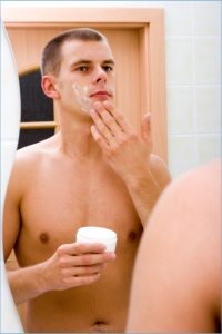 A man grooming